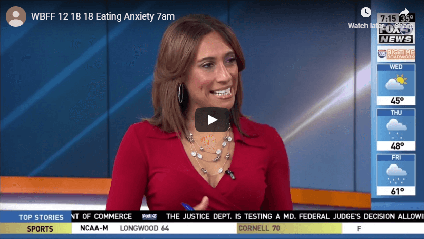 Shmuel Fischler on Fox45 Morning News: Eating Anxiety