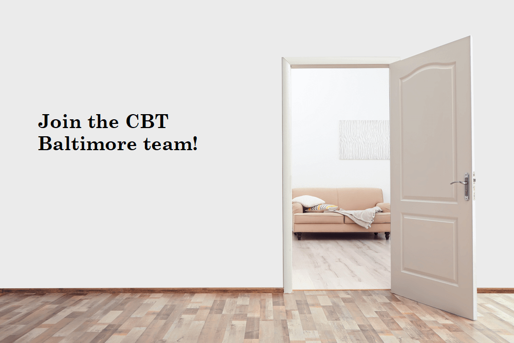, Clinical position for immediate hire, CBT Baltimore